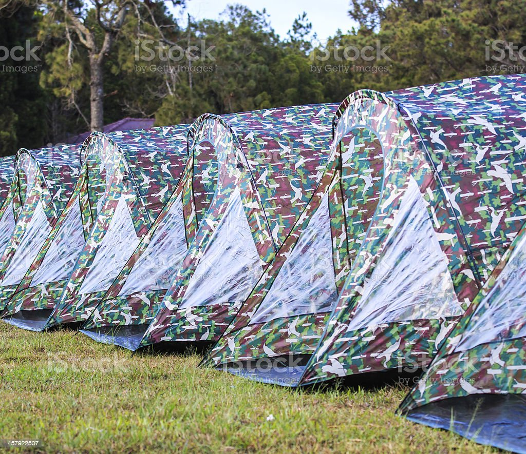 tent camp royalty-free stock photo