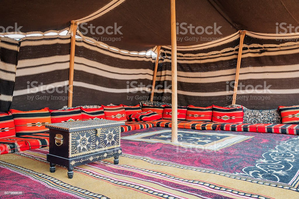 Tent Desert Camp Oman stock photo