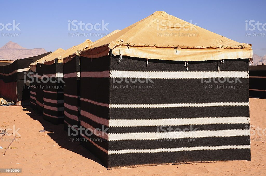 tent in desert royalty-free stock photo