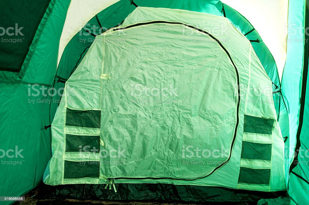 Tent Inside View Entrance Flap Stock Photo & More Pictures