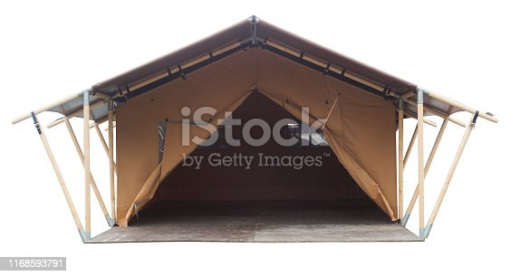 istock tent or small house isolated on white background 1168593791