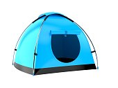 Tent isolated on white background. 3d illustration
