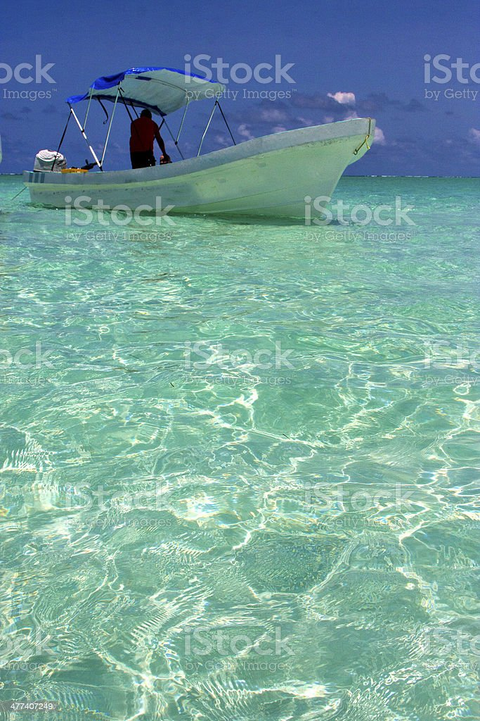 tent relax and boat   of sian kaan in mexico stock photo