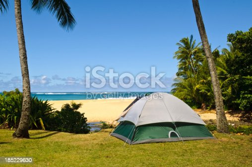 istock Camping beside beach 185229630