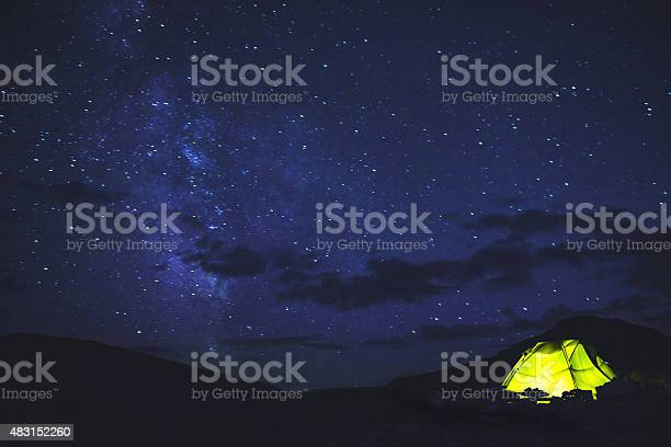 Photo of Tent under the starry sky