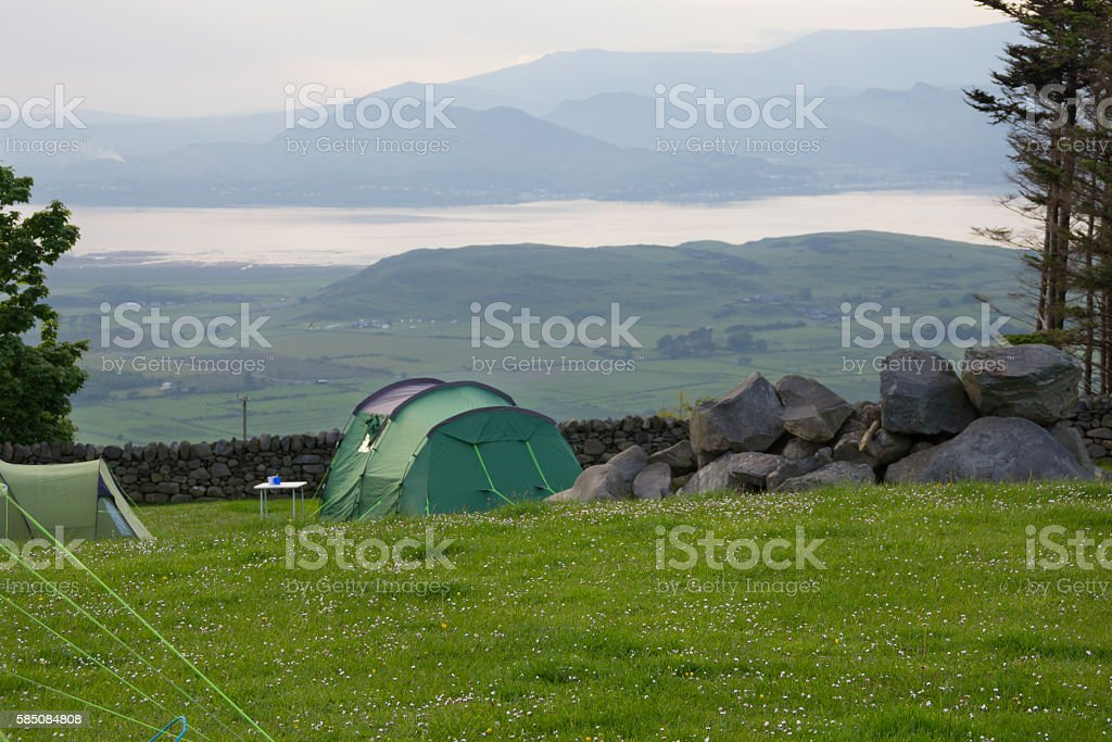 Tent with a view stock photo