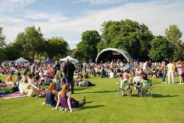 Tentertainment music festival stock photo