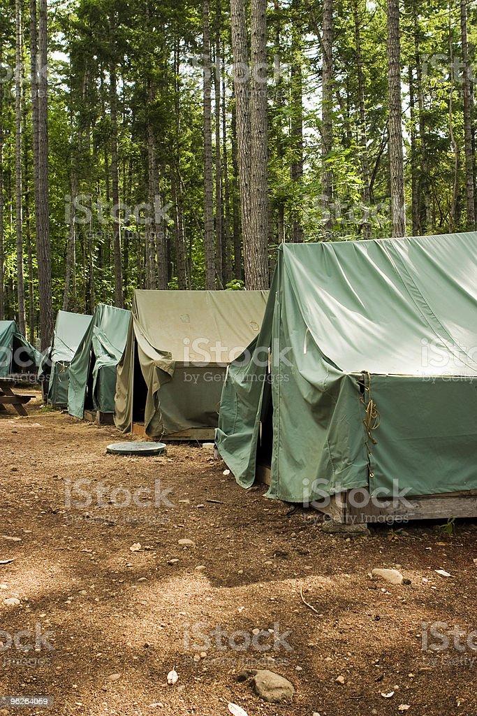 Tents At Summer Camp royalty-free stock photo