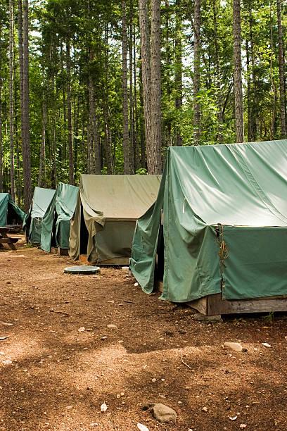 Zelte im Sommer-Camp – Foto