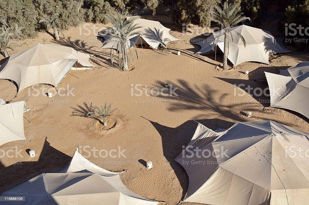 Tents of the nomadic Bedouin tribes stock photo