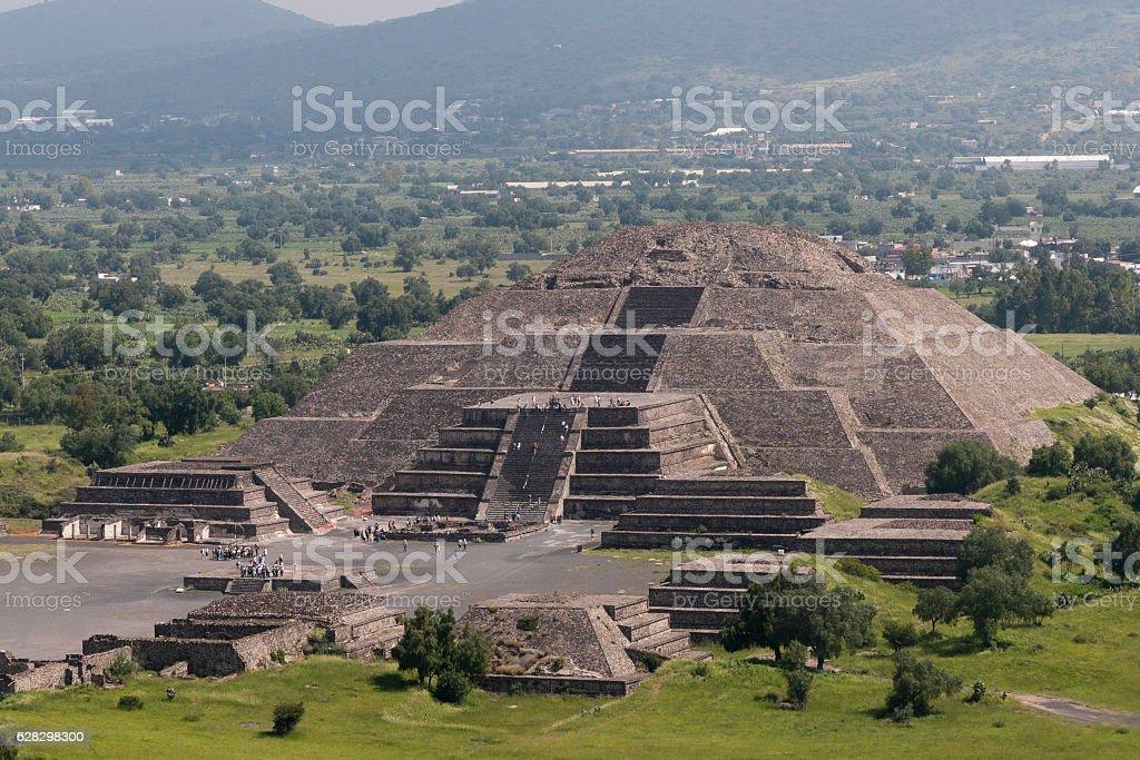 Teotihuaca, piramide de la luna Mexico stock photo