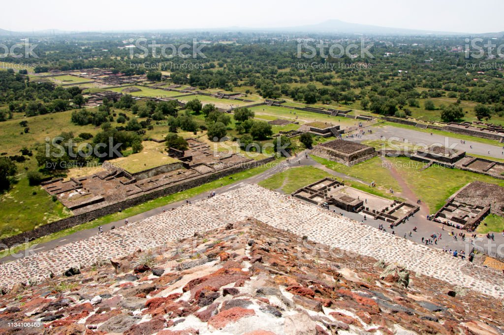 Teotihuacan Archaeological Zone stock photo