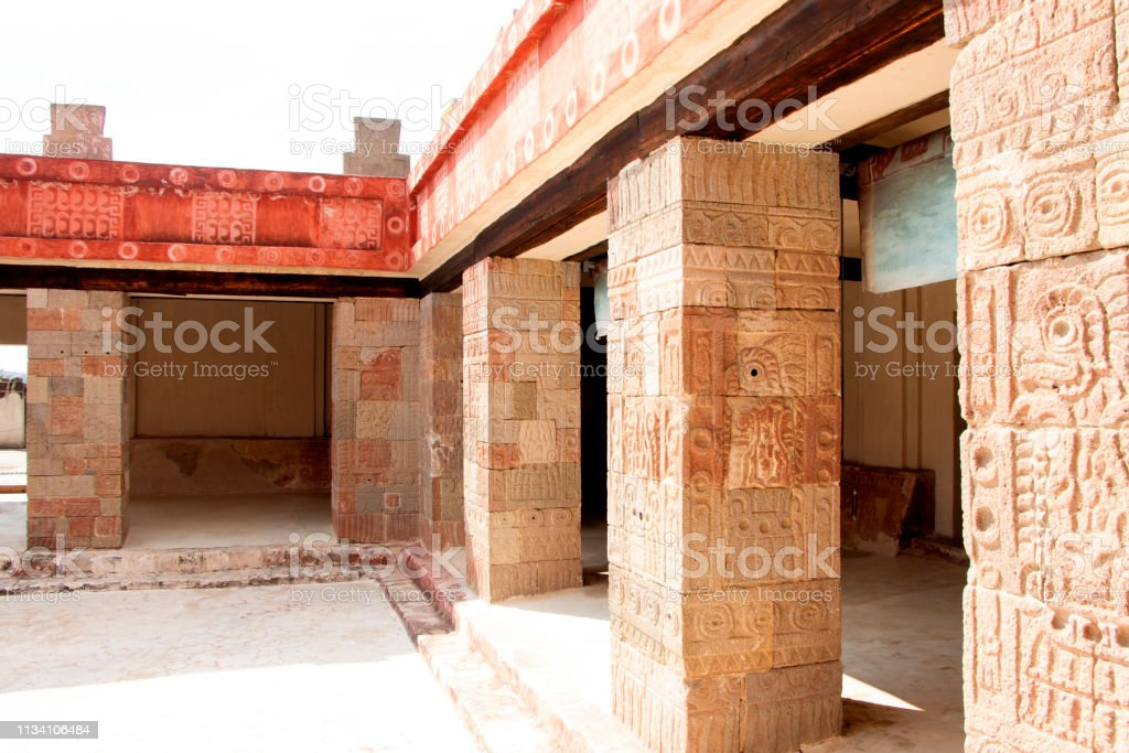Teotihuacan Architectural Construction stock photo