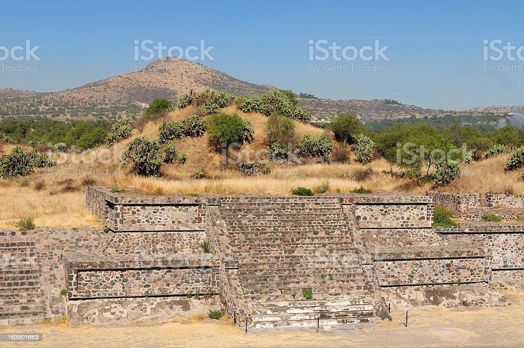Teotihuacan Aztec ruins near Mexico city royalty-free stock photo