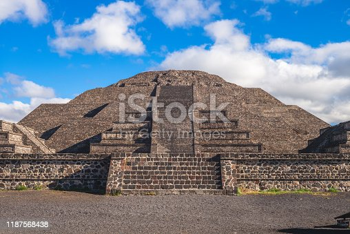 Pyramid of moon in Teotihuacan, mexico