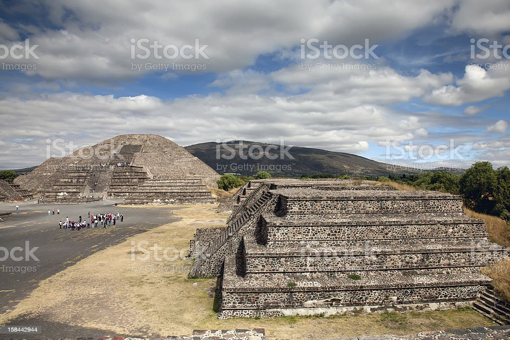 Teotihuacan in Mexico stock photo