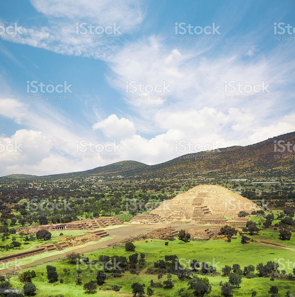 Teotihuacan, Mexico, Pyramid of the moon stock photo