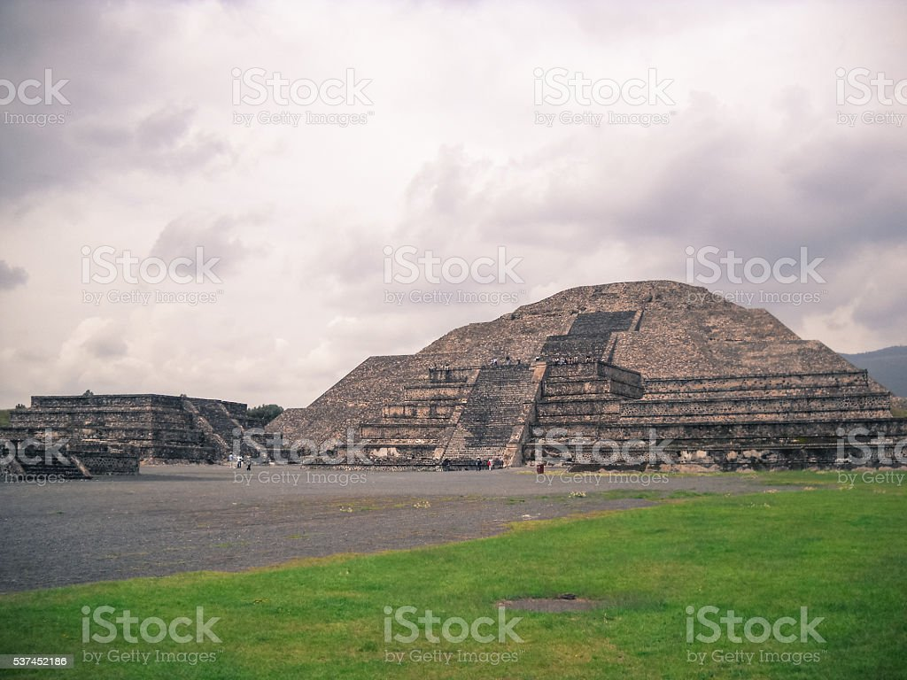 Teotihuacan. Pyramid of the Moon stock photo