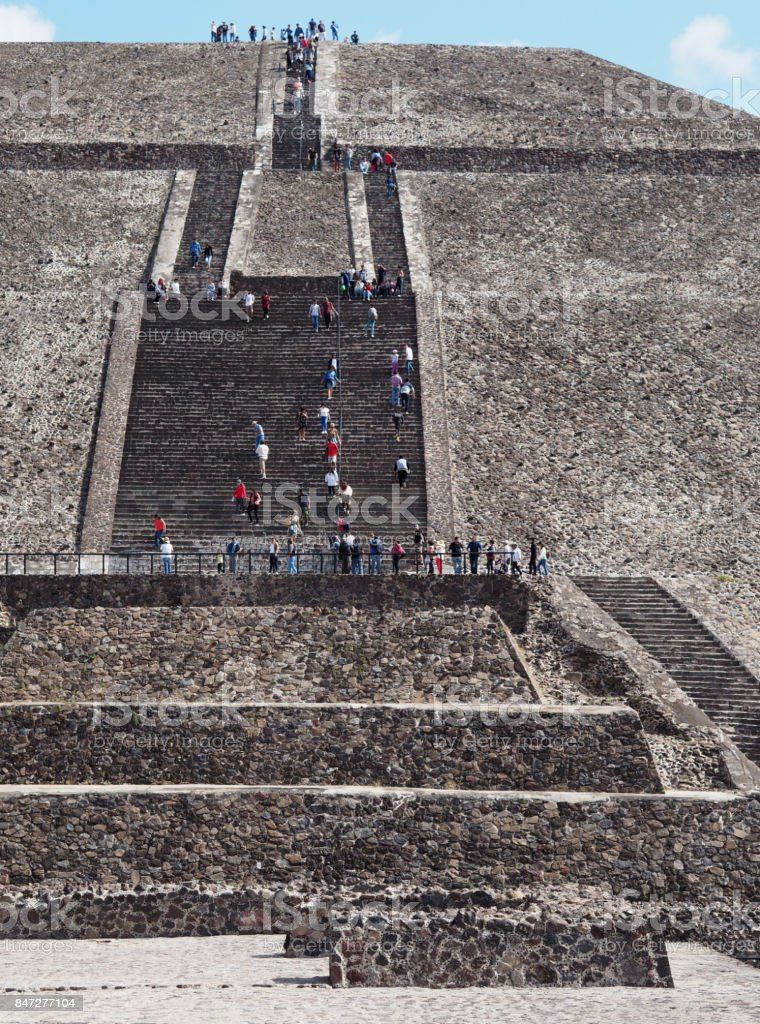 Teotihuacan Pyramid of the Sun, Mexico stock photo