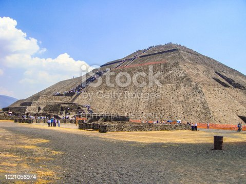 In April 2011, tourists were visiting Teotihuacan pyramids, Mexico