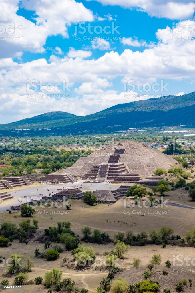 Teotihuacan Pyramids Mexico stock photo