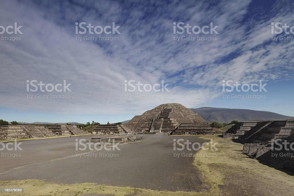 Teotihuacan ruins panorama royalty-free stock photo