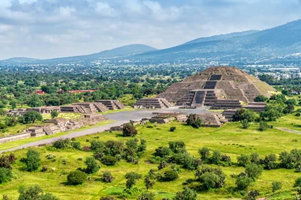 Teotihuacán Pyramids outside Mexico City stock photo