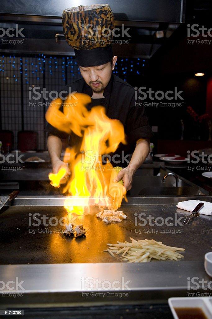 Tepan Grill Ablaze (XXL) royalty-free stock photo