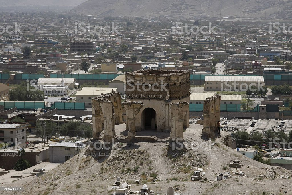 Tepe Maranjan in Kabul stock photo
