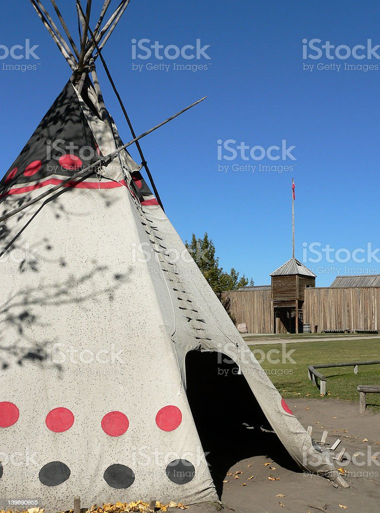 Tepee and Fort stock photo