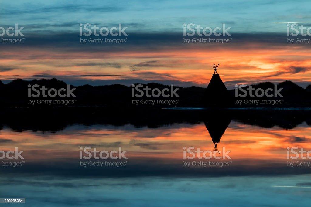 Tepee Lake Reflection stock photo