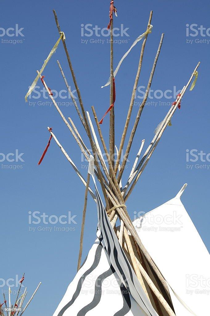 Tepee Poles stock photo