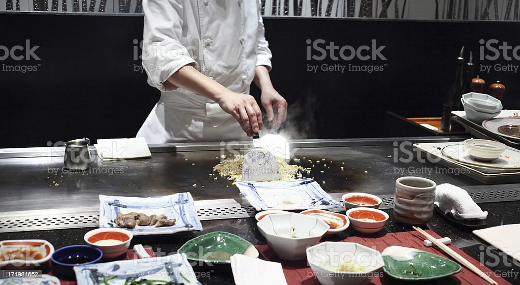 Teppan Yaki Fried Rice stock photo
