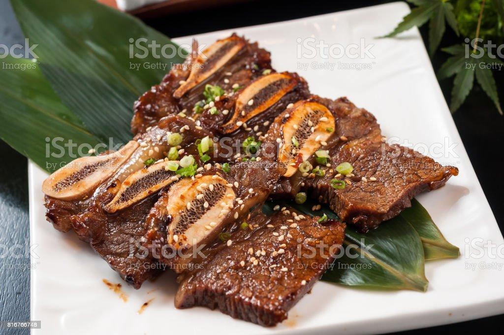 teppanyaki beef rib stock photo
