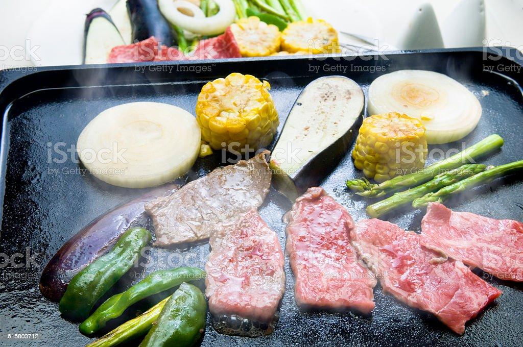 Teppanyaki stock photo