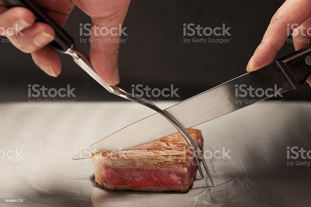 Teppanyaki Steak stock photo