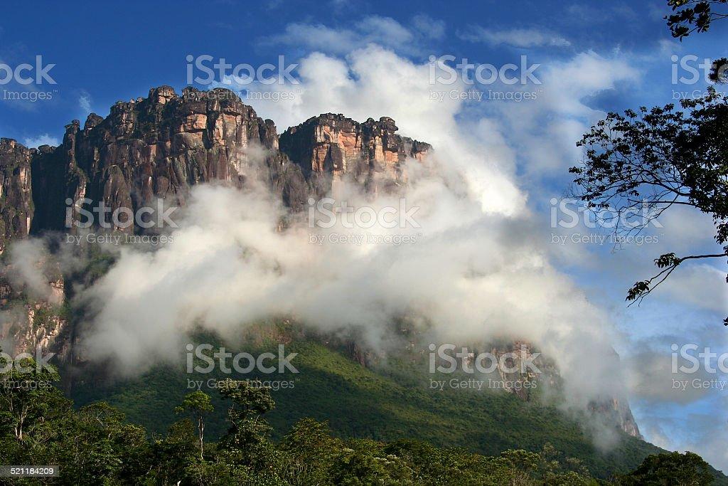 Tepui in Canaima National Park, Venezuela stock photo