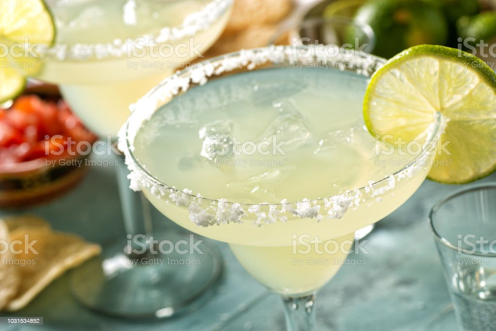 Tequila and Lime Margaritas stock photo