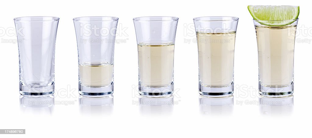Tequila fill up stock photo