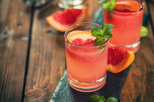 Tequila Paloma Cocktail With Fresh Grapefruit Stock Photo - Download Image Now