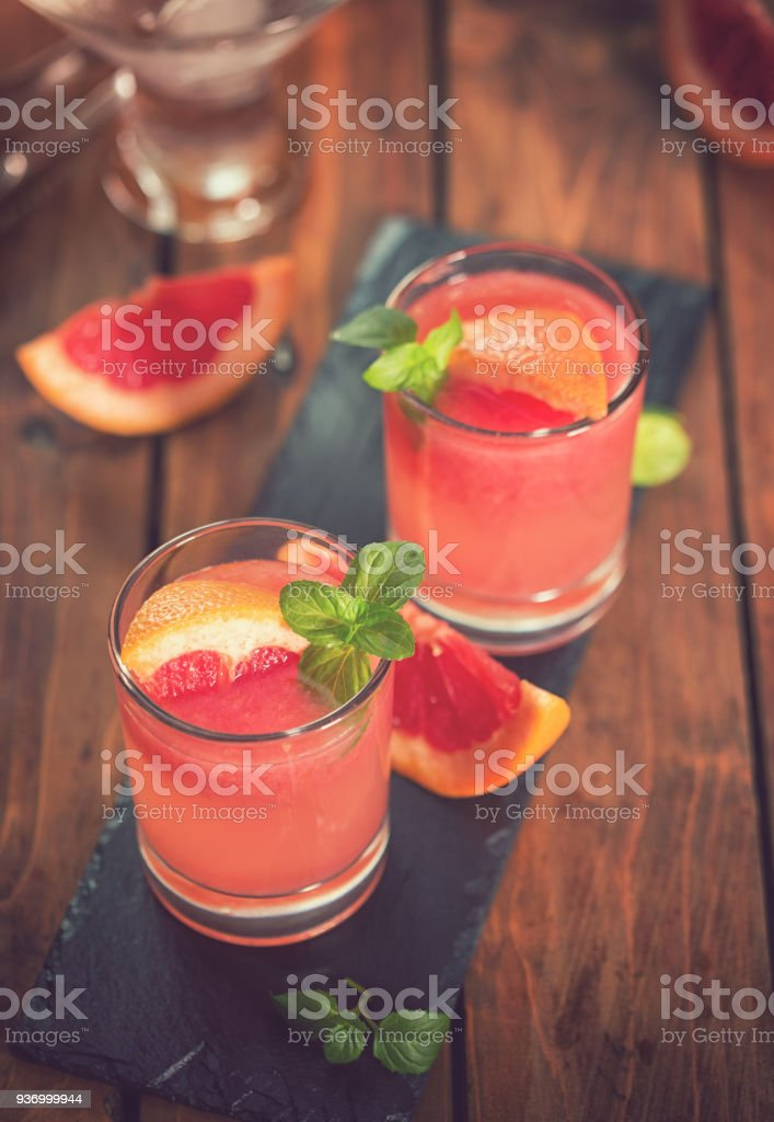 Tequila Paloma Cocktail With Fresh Grapefruit stock photo