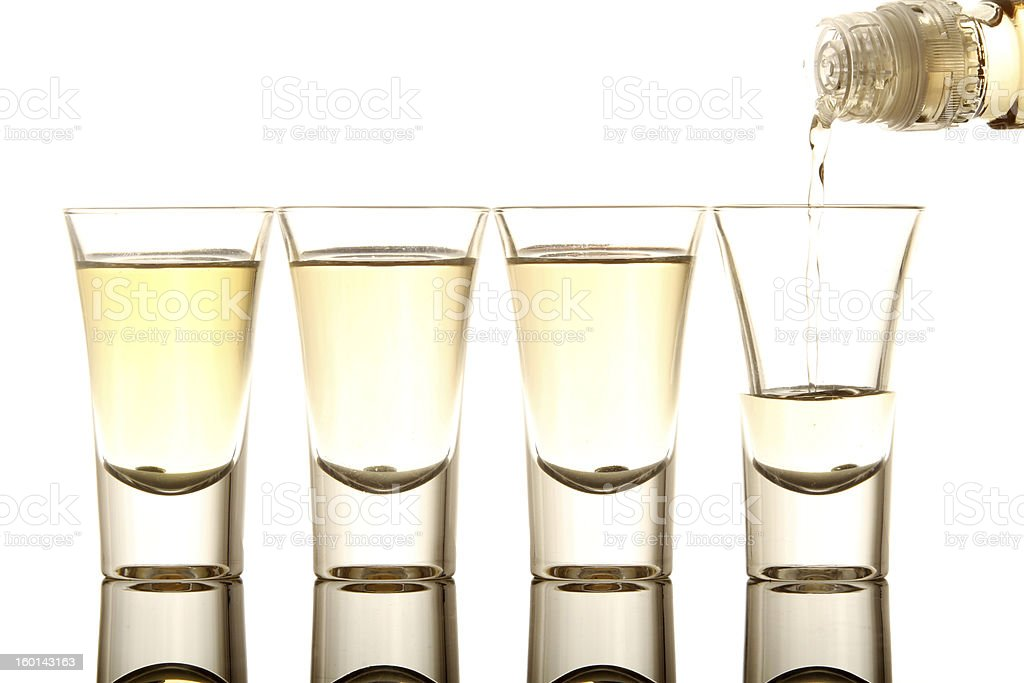 Tequila shot royalty-free stock photo