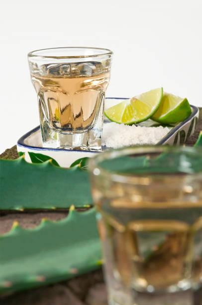 chupito de tequila de cierre - mezcal fotografías e imágenes de stock