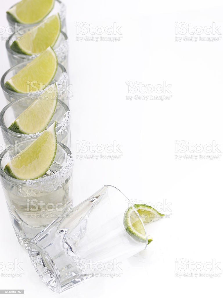 Tequila Shots in a row royalty-free stock photo