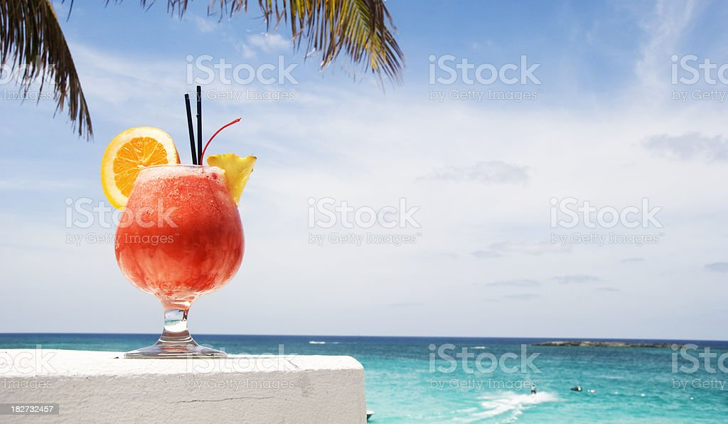 Tequila Sunrise in the Carribeans royalty-free stock photo