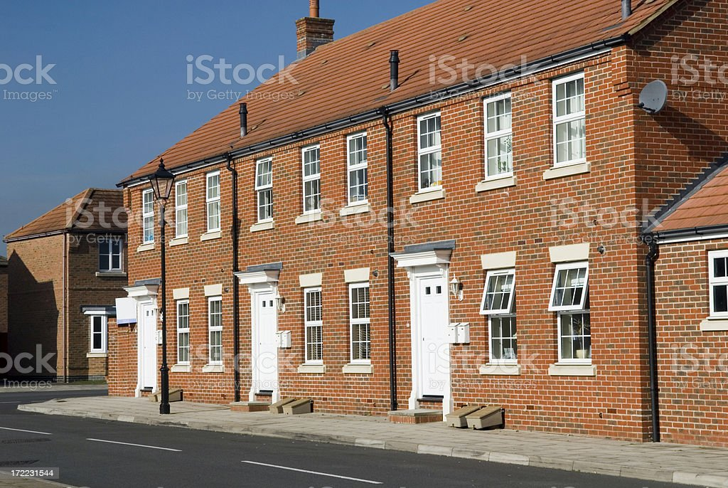 Terace Houses royalty-free stock photo