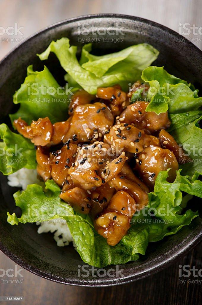 Teriyaki Chicken Bowl stock photo