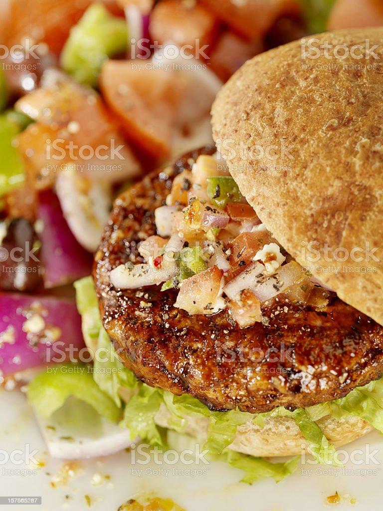 Teriyaki Chicken Burger royalty-free stock photo