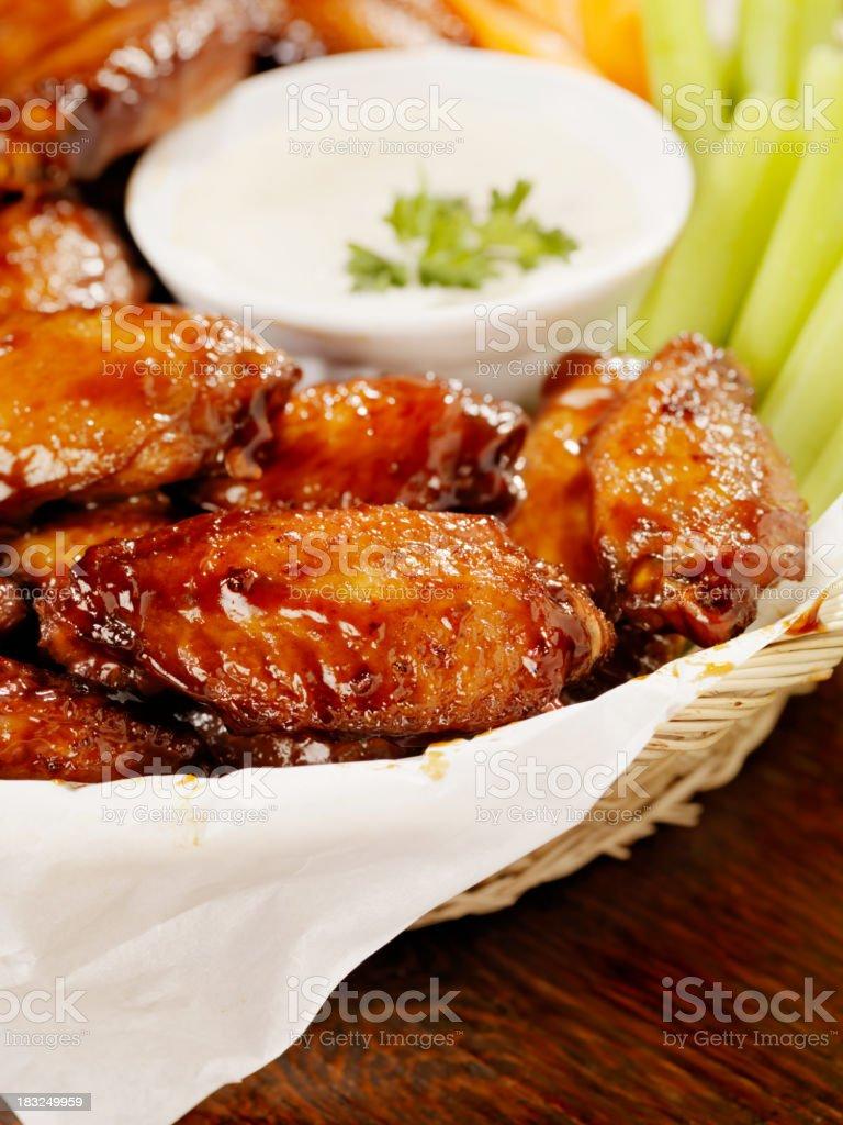 Teriyaki Chicken Wings royalty-free stock photo
