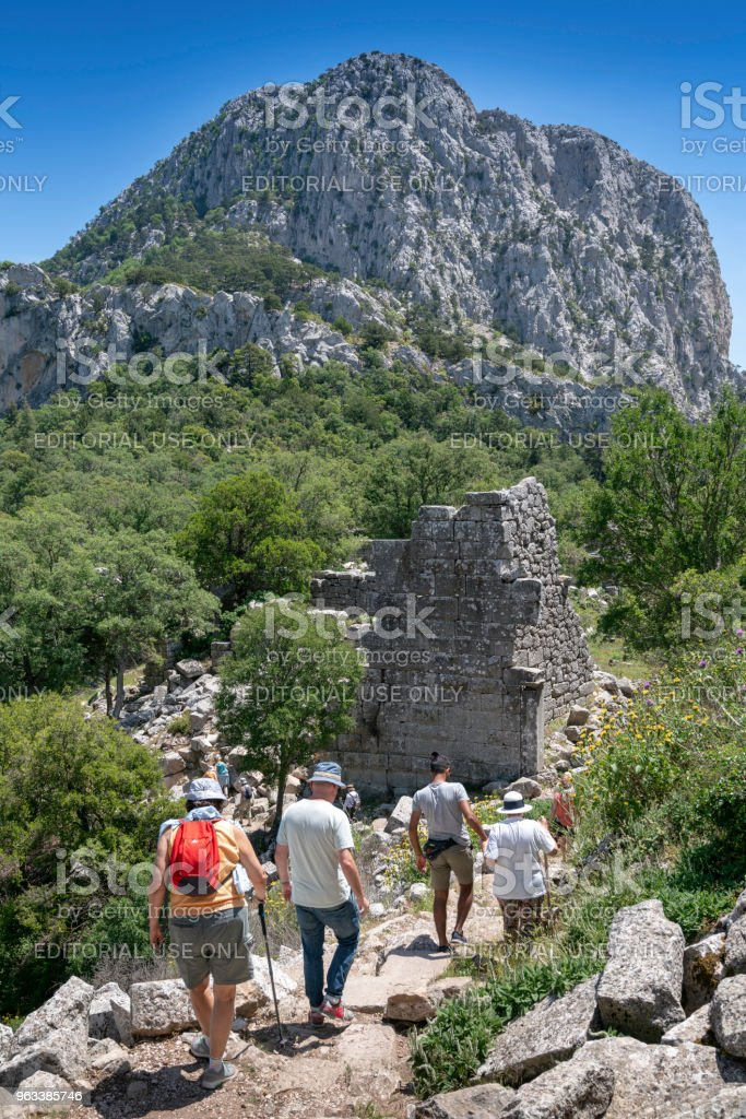 Termessos Pisidian ancient city in Turkey. - Zbiór zdjęć royalty-free (Amfiteatr)